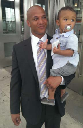 John Barros with his son, John Jr.