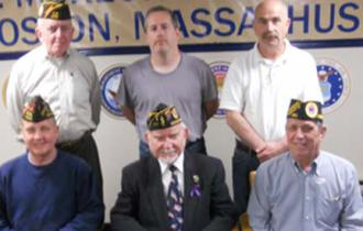 Memorial Day committee 2013:  First row, from left to right, Mike McLoud, John O. Scannell, Donald Newell;  back row: Frank Cahill,  Mike Hegarty and Steve Bickerton.