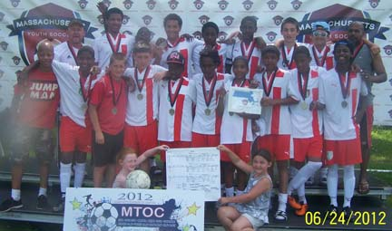 Under 14 Dorchester Youth Soccer champs