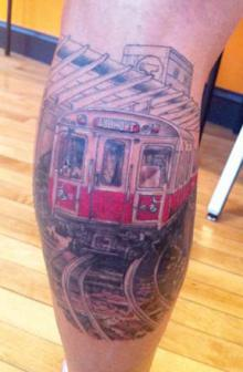 Red Line Tribute Tattoo