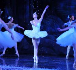 Nutcracker: Dancer Elisabeth Scherer, who grew up in Dorchester, performs as the Snow Queen in Joe Mateo Theatre Company's The Nutcracker.  Photo by Karen Wong