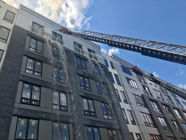 Fire at multi-story building in Boston