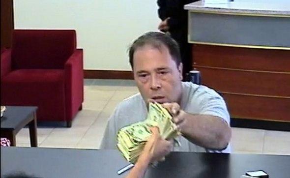 Surveillance photo of alleged bank robber