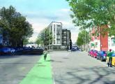 A view from the intersection of Talbot Avenue and Argyle Street. Rendering courtesy RODE Architects.