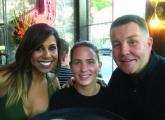 Taniya Nayak, Danielle Ferrari and Ken Casey