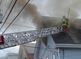 Firefighter on Brookvale Street roof