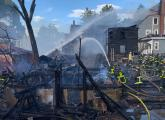 Old Morton Street fire. Photo by Boston Fire Department.