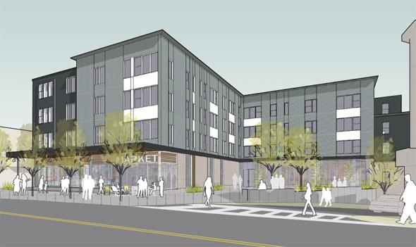 Proposed building at 191 Bowdoin St.
