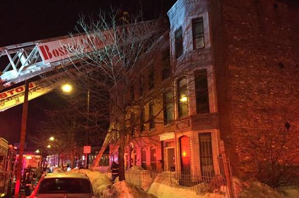 Washington Street fire scene