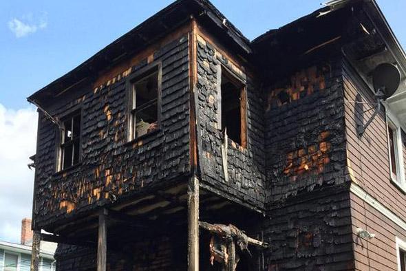 57 Fairmount St. after fire
