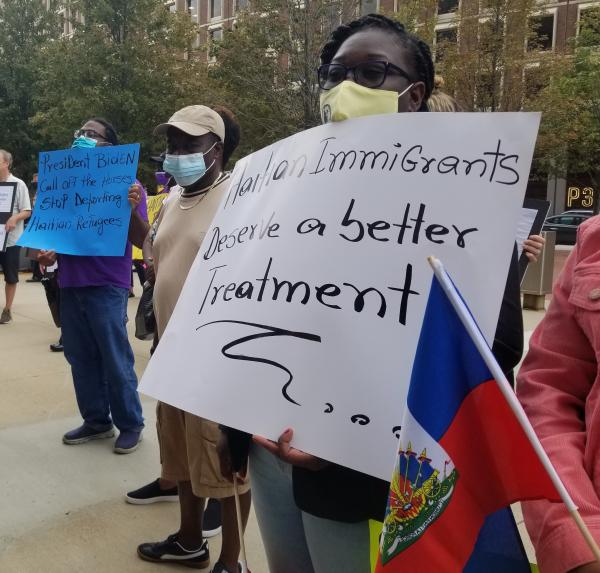 Rally for Haitian immigrants