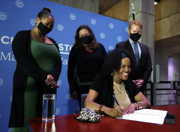 Kim Janey signs BERDO ordinance