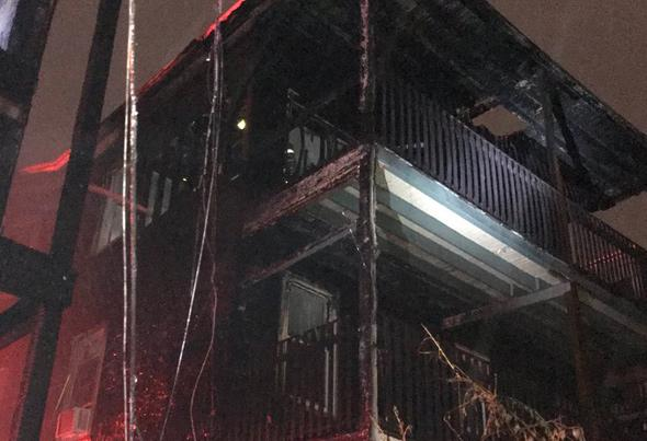 Damaged home at 131 Boston St.