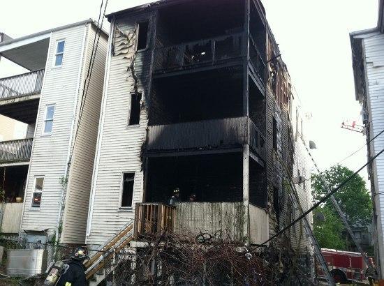 Dean Street fire aftermath.
