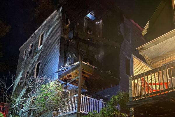 Castlerock Street house damaged by fire