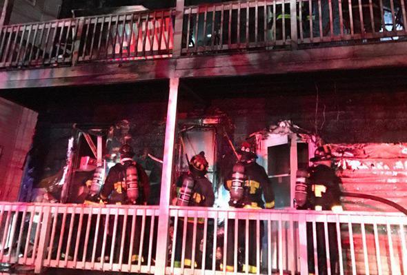 After fire on Ellington Street in Dorchester