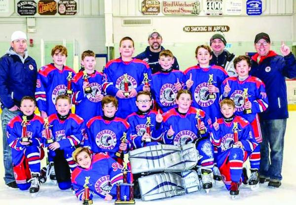 The 14 Player Dorchester Youth Hockey Chiefs B Led By Coaches Vincent Conte Neil Janulewicz Matt Mcquaid And Kevin Donahue Won Championship