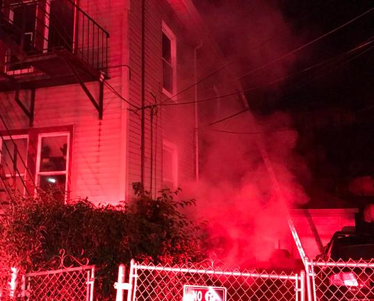 Fire at 73 Wildwood St. in Mattapan