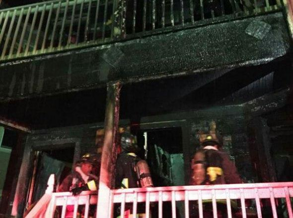 Ridgewood Street fire aftermath