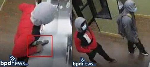 Armed robbers inside Great Wok.
